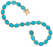 Sleeping Beauty Turquoise 8 Tennis Bracelet 14K Gold - J324757