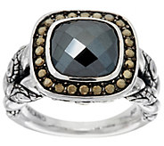 JAI Sterling Cushion Cut Gemstone Croco Texture Ring - J329257