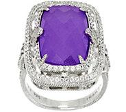 Judith Ripka Sterling Lavender Quartzite Ring - J330457