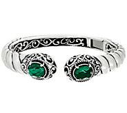 Carolyn Pollack Sterling Silver Gemstone Doublet Cuff Bracelet - J330757