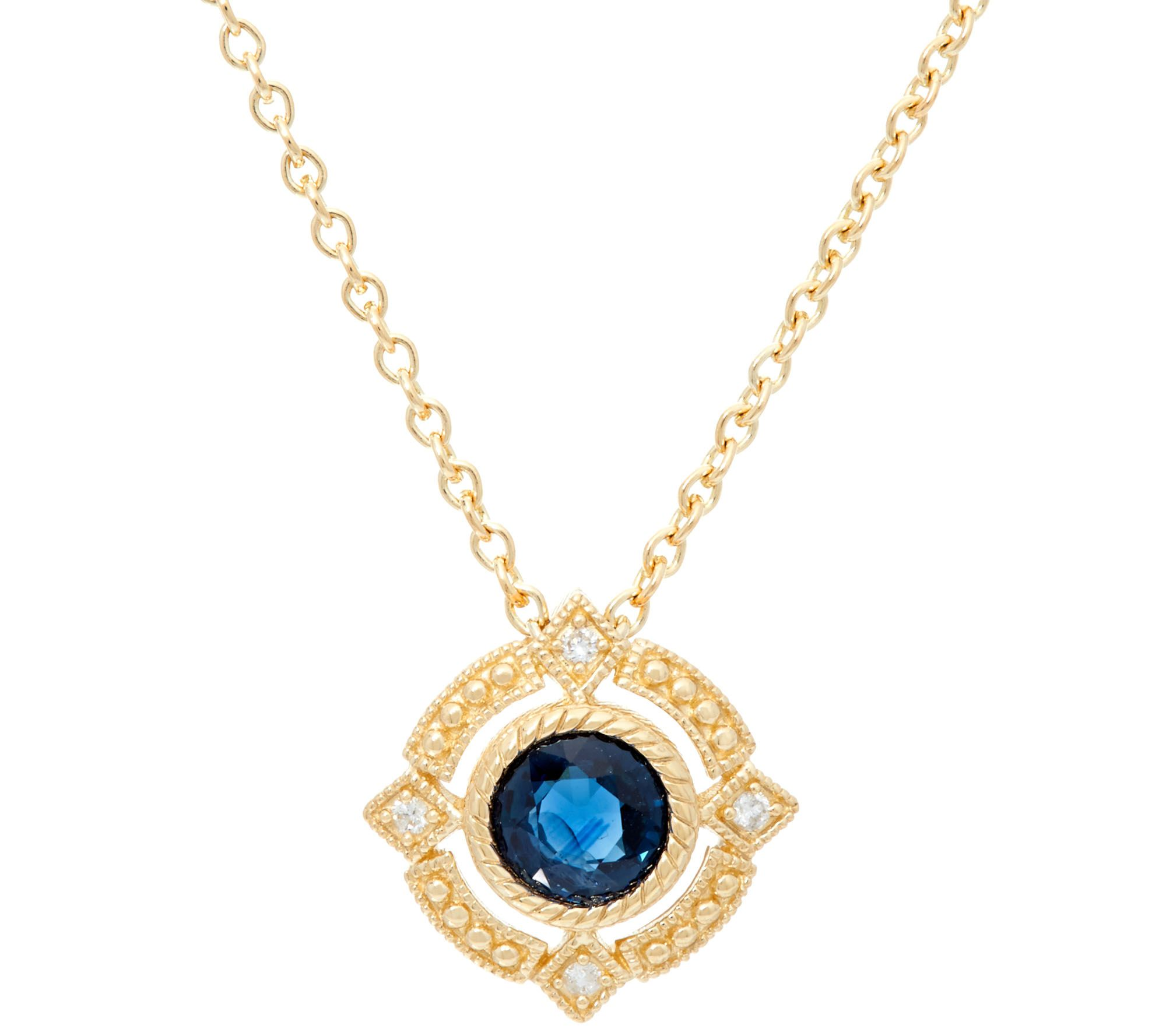 topaz sterling silver product pendant ripka enhancer cz blue judith