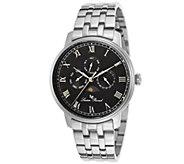 Lucien Piccard Moubra Mens Stainless Steel Bracelet Watch - J339057