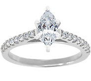 Diamond Pave Ring, 14K White Gold 1/2 cttw, byAffinity - J341457