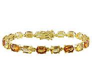 Sterling 14.00 cttw Citrine Tennis Bracelet - J343357