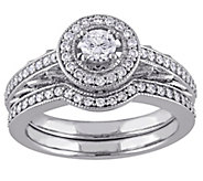 Round Diamond 2-Piece Ring Set, 14K, 5/8 cttw,by Affinity - J343757