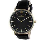 Peugeot Mens Slim Goldtone Watch - J344557