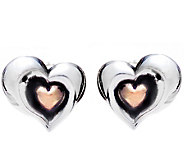 Hagit Sterling & 14K Gold Stud Heart Earrings - J345057
