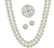 Carolee Lady Liberty 60 Simulated Pearl Rope Necklace Set - J351057
