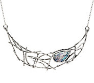 Or Paz Sterling Silver Pear Shaped Roman Glass Web Necklace - J351657