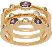 Melinda Maria Three Band Stack Ring - J352157