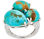 Turquoise Mixed Shape Cluster Ring, Sterling - J354057