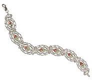 Black Hills 7-1/2 Filigree Link Bracelet, Ster ling/12K Gold - J109858