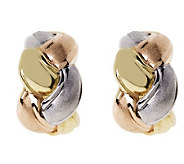 Arte dOro Tri-color Braided Hoop Earrings, 18KGold - J112958