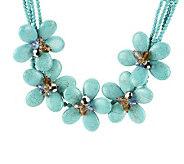 Joan Rivers Blooming Statement Bib 16  Necklace w/3 Extender - J264158