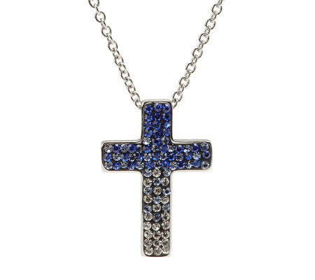 Steel by Design Crystal Cross Pendant with Chain