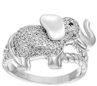 Product image of Lucky Elephant Diamond Ring Sterling, 1/4cttw by Affinity