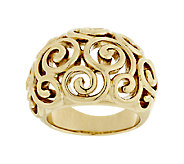 14K Gold Bold Polished Swirl Design Ring - J292058