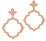 As Is Bronzo Italia Hammered Openwork Dangle Earrings - J292558