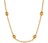 Stainless Steel Polished Stationed Nugget Necklace - J295958