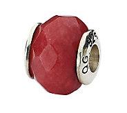 Prerogatives Sterling Red Quartz Gemstone Bead - J298258