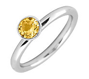 Simply Stacks Sterling 5mm Round Citrine Solitaire Ring - J298758
