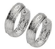 Or Paz Sterling Round Textured Hoop Earrings - J307158