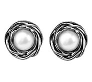 Or Paz Sterling Cultured Freshwater Pearl RoundStud Earrings - J311558