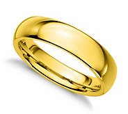Sterling Silver 4MM Silk Fit Unisex Band Ring,14K Gold Clad - J312258