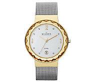 Skagen Womens Two-Tone Stainless Steel Mesh Bracelet Watch - J313658