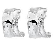Hagit Gorali Sterling Textured Hoop Earrings - J314158