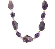 Lee Sands Amethyst Beaded 18 Adjustable Necklace - J315058