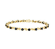 7 Choice of Gemstone Scroll Tennis Bracelet, 1 4K Gold - J315958