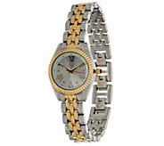 Liz Claiborne New York Mini Coin Edge Bracelet Watch - J320158