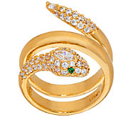 The Elizabeth Taylor Simulated Diamond Snake Ring - J321758
