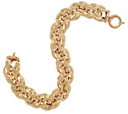 14K Gold 8 Bold Polished Woven Bracelet, 17.1g - J322358
