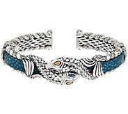 JAI Sterling & 14K Leather Andaman Sea Koi Fish Cuff Bracelet - J323258
