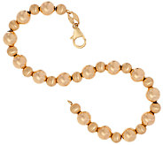 EternaGold 7-1/4 Polished & Satin Bead Bracelet 14K Gold, 3.2g - J324058