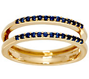Blue Sapphire Ring Guard, 14K Gold, .20 cttw, by Affinity - J329458