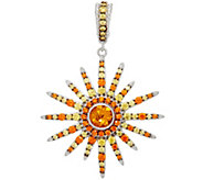 Judith Ripka Sterling Silver Citrine & Diamonique Sun Enhancer - J329658