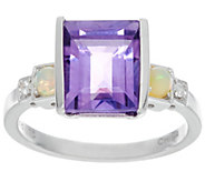 Jane Taylor Sterling Silver Emerald Cut Gemstone Ring - J330958