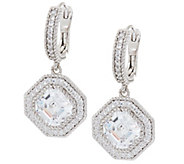 As Is Judith Ripka Sterling 5.75cttw Diamonique Drop Earrings - J331058