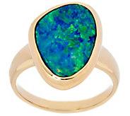 Australian Opal Doublet Bold Ring 14K Gold - J331258