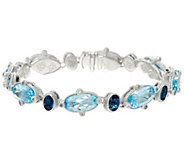 As Is Judith Ripka Sterling Multi-Gemstone Tennis Bracelet - J331958