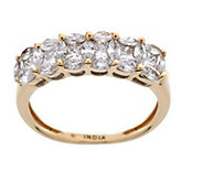 As Is 6-Stone Cluster Design Diamond Ring, 14K, 6/10 cttw by Affinity - J333458