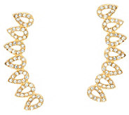 BaubleBar Pave Crystal Droplet Ear Climber Earrings - J335458
