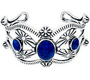Sterling Silver & Denim Lapis Cuff by American West 34.0g - J347058