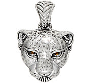 JAI Sterling Silver Leopard Head Enhancer, 13.21g - J350258