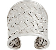 EXEX by Claudia Agudelo Sterling Silver Bold Woven Ring - J350858