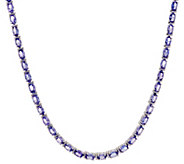 Exotic Gemstone Tennis Necklace, Sterling Silver - J354058