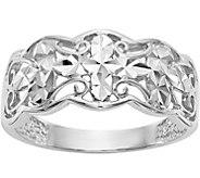14K Diamond-Cut Filigree Ring - J376658